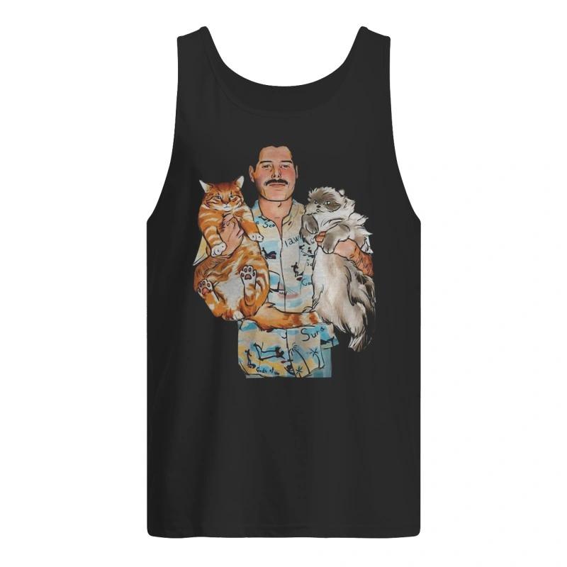 Freddie Mercury Hug Cats Tank Top