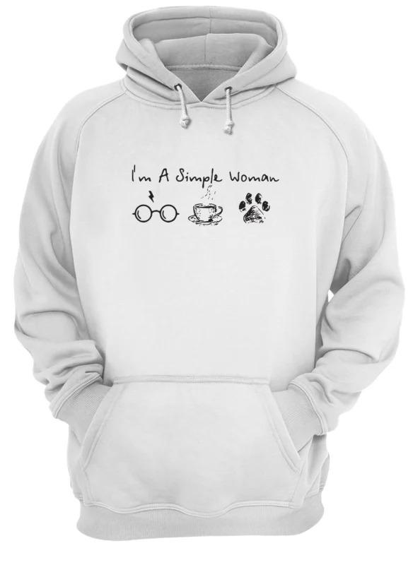 I'm A Simple Woman I Like Harry Potter, Coffee and Paw Dog Hoodie