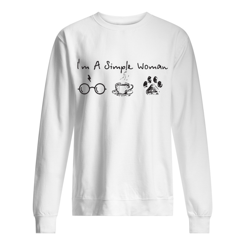 I'm A Simple Woman I Like Harry Potter, Coffee and Paw Dog Sweater