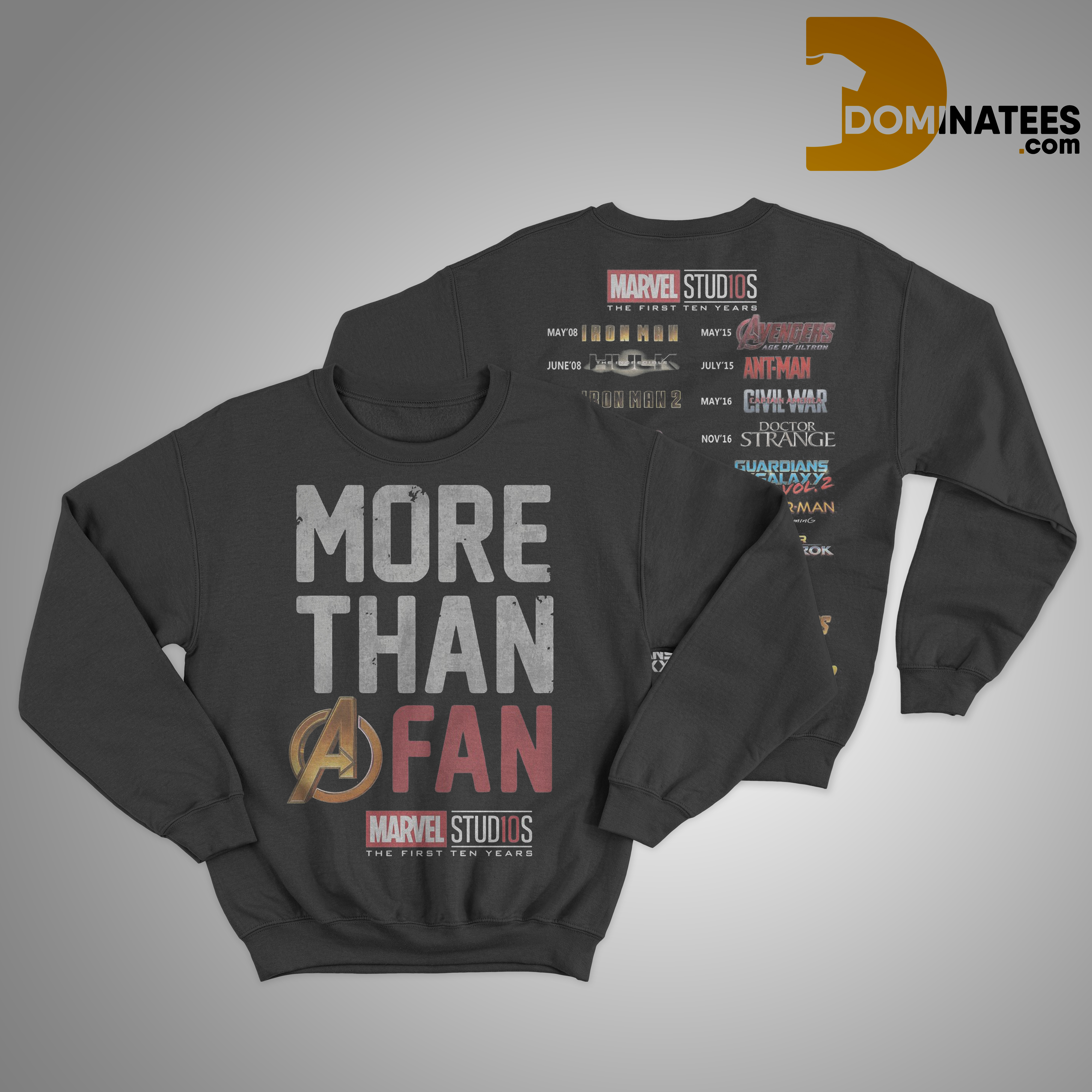 More Than A Fan Marvel Marvel Studios The First Ten Years Sweater