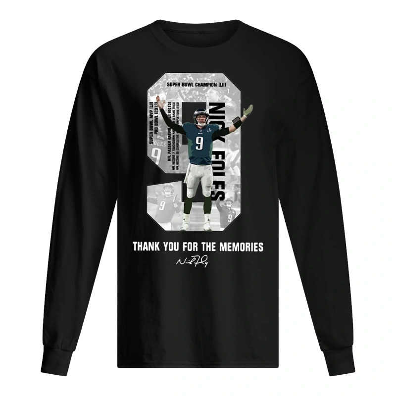 Nick Foles Thank You For The Memories Long Sleeve Tee