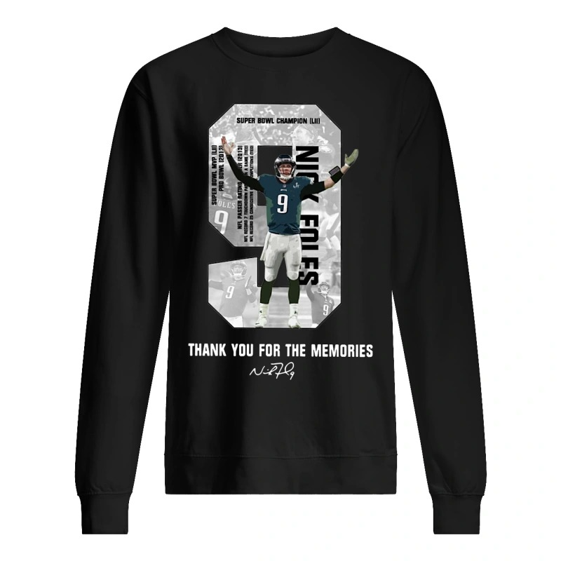 Nick Foles Thank You For The Memories Sweater