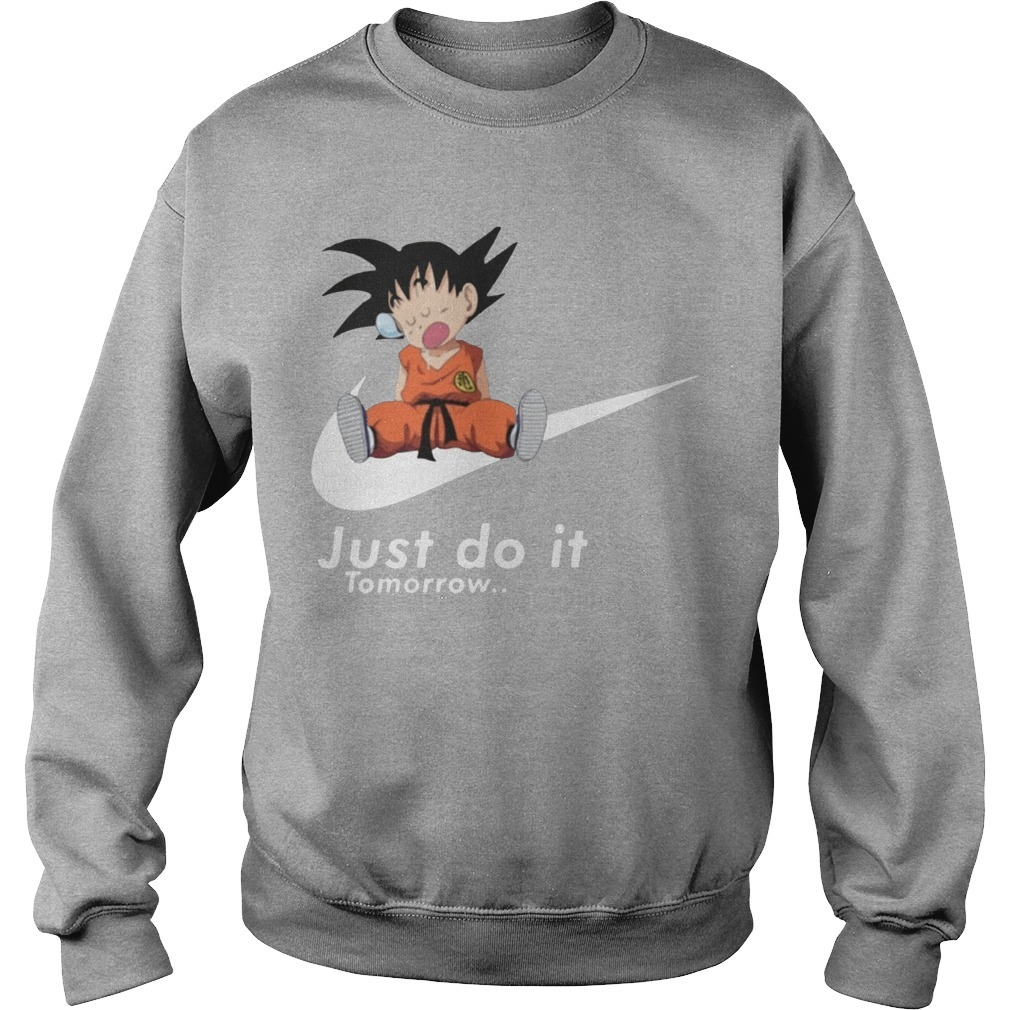 Nike Lazy Goku Just Do It Tomorrow Sweater