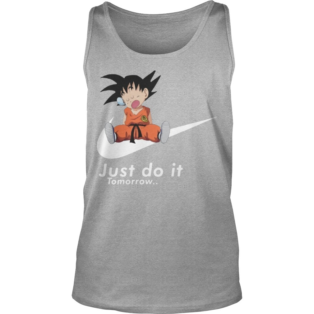 Nike Lazy Goku Just Do It Tomorrow Tank Top