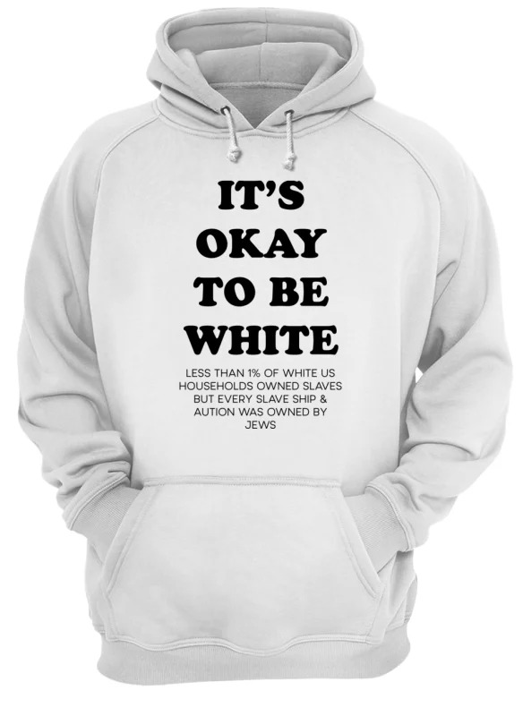 Noah Smith It's Okay To Be White Hoodie
