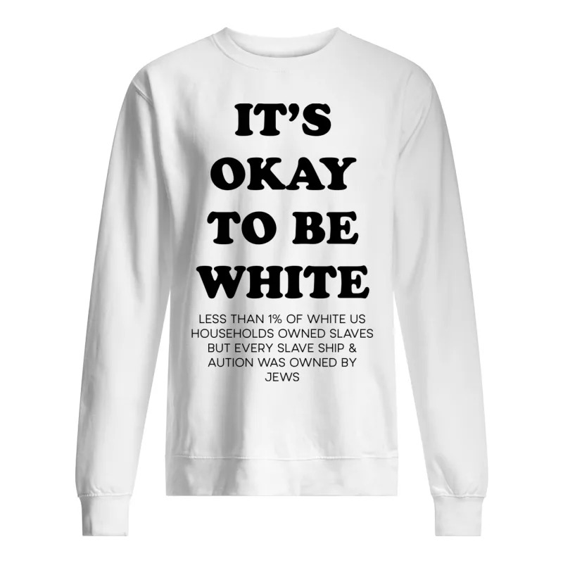 Noah Smith It's Okay To Be White Sweater