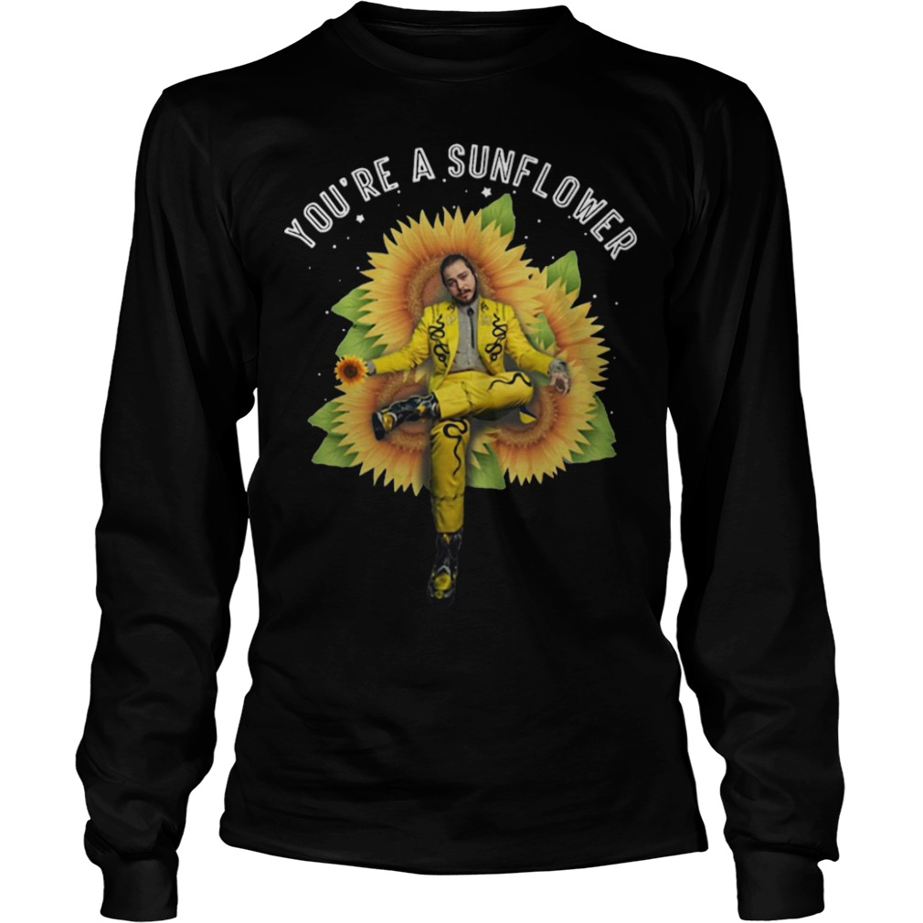 Post Malone You're A Sunflower Longsleeve Tee