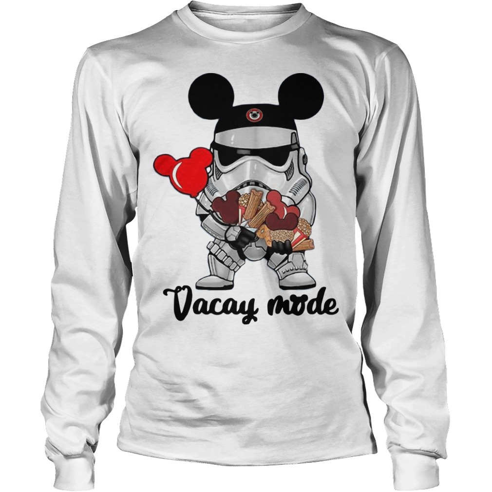 Star Wars Stormtrooper Mickey Vacay Mode Long Sleeve Tee