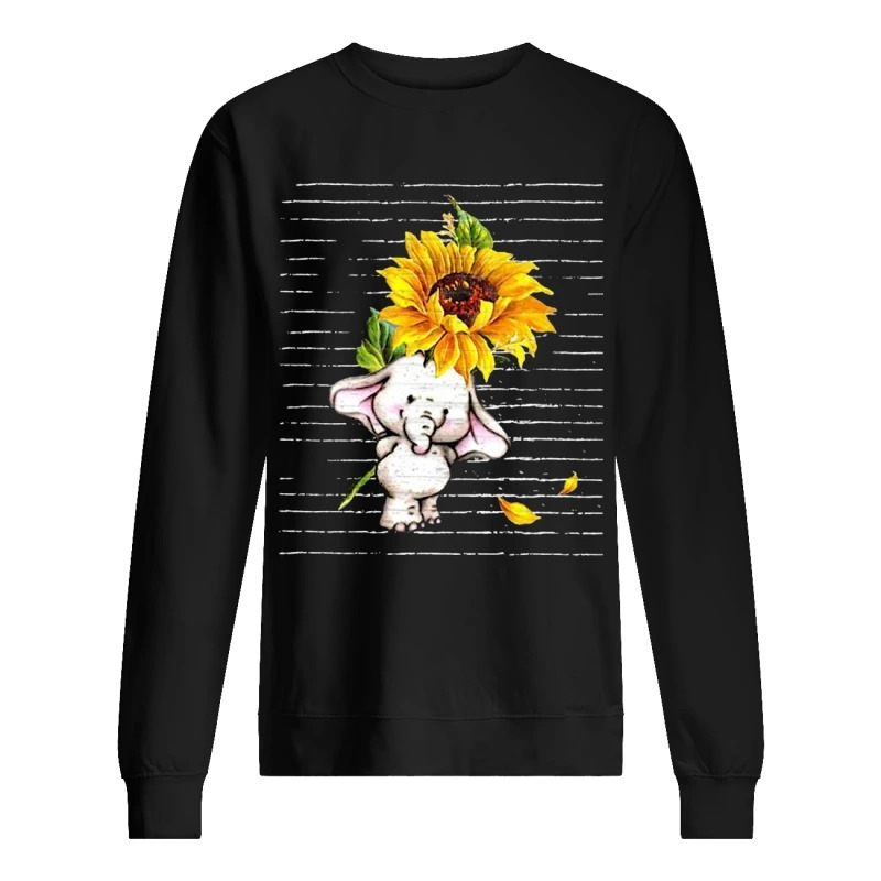 Sunflower Baby Elephant Cute Sweater