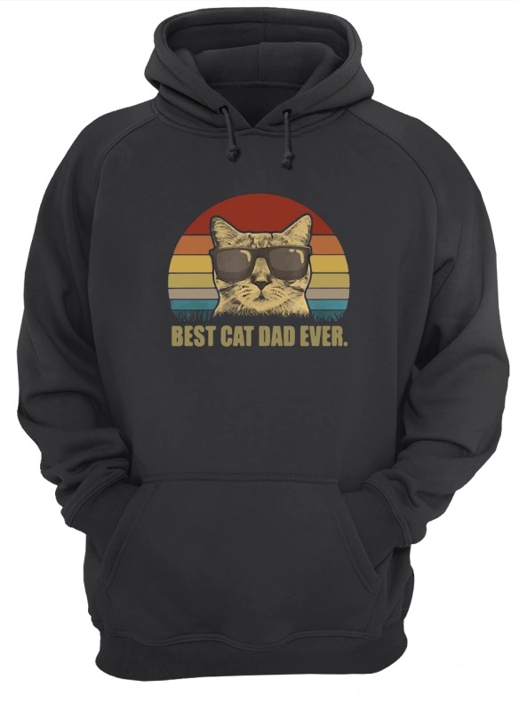 Sunset Best Cat Dad Ever Hoodie