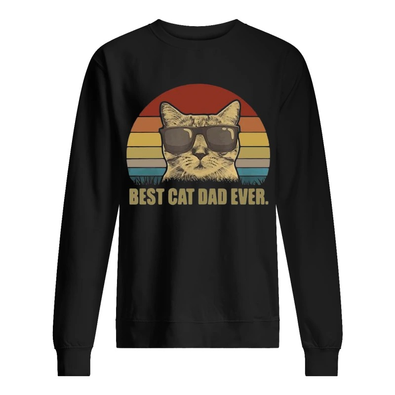 Sunset Best Cat Dad Ever Sweater