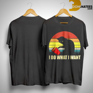 Sunset Vintage Cat I Do What I Want Shirt