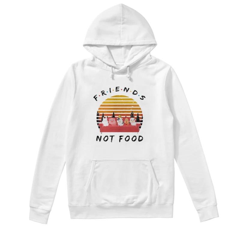 Vintage Sunset Friends Not Food Hoodie
