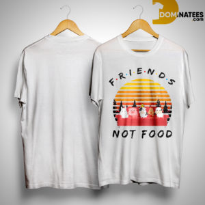 Vintage Sunset Friends Not Food Shirt