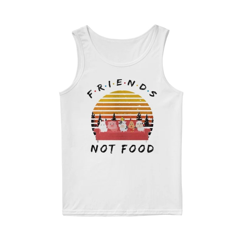 Vintage Sunset Friends Not Food Tank Top