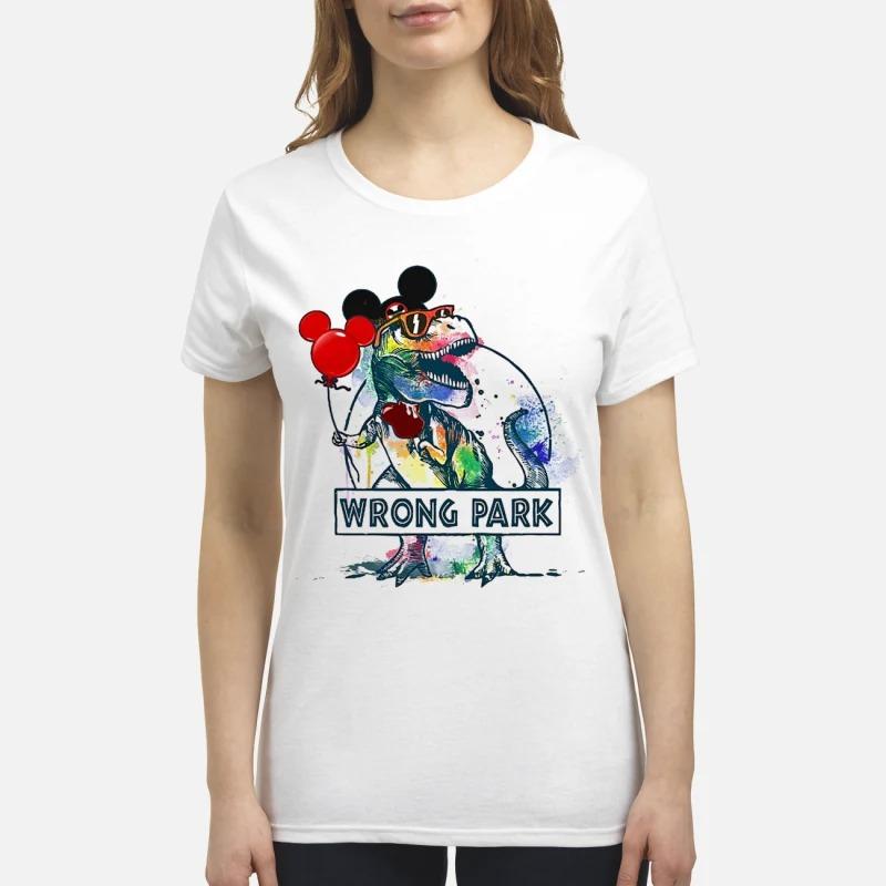 Wrong Park T Rex Ladies Shirt