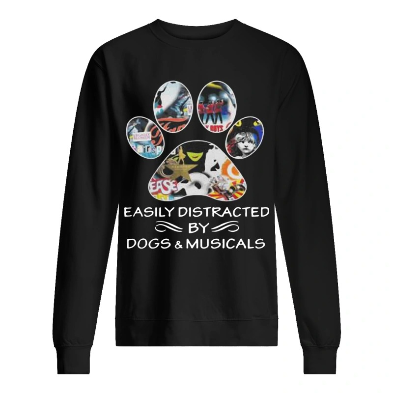 easily distracted by dogs and musicals Sweater