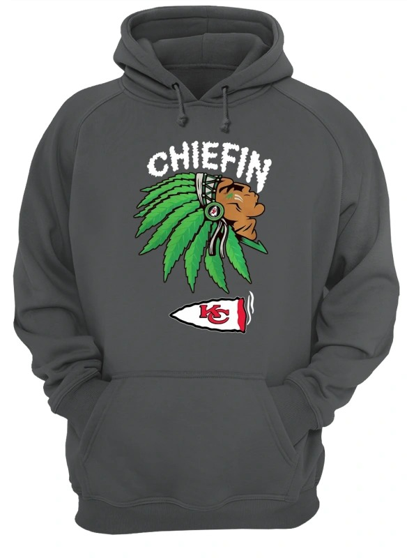 kansas city chiefs marijuana smoke weed chiefin Hoodie