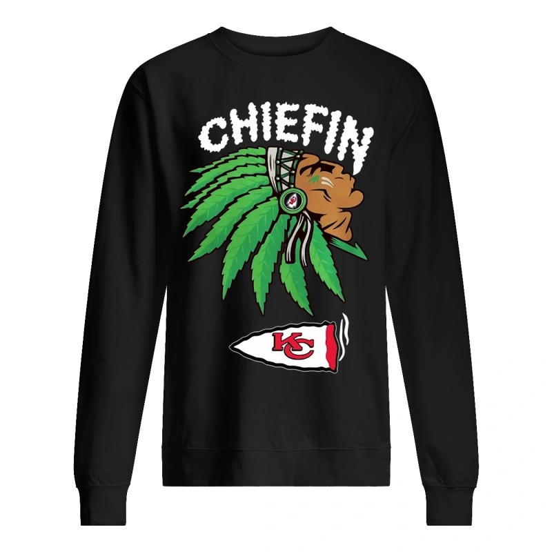 kansas city chiefs marijuana smoke weed chiefin Sweater