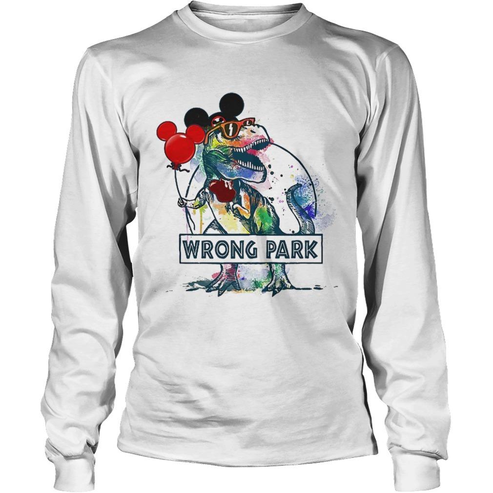 wrong park t rex Long Sleeve Tee