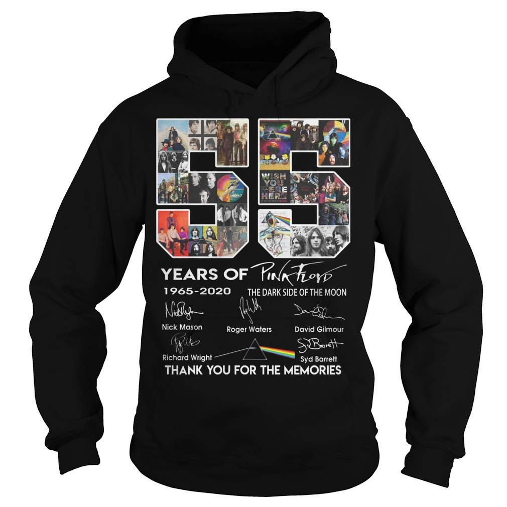 55 Years Of Pink Floyd Thank You For The Memories Hoodie