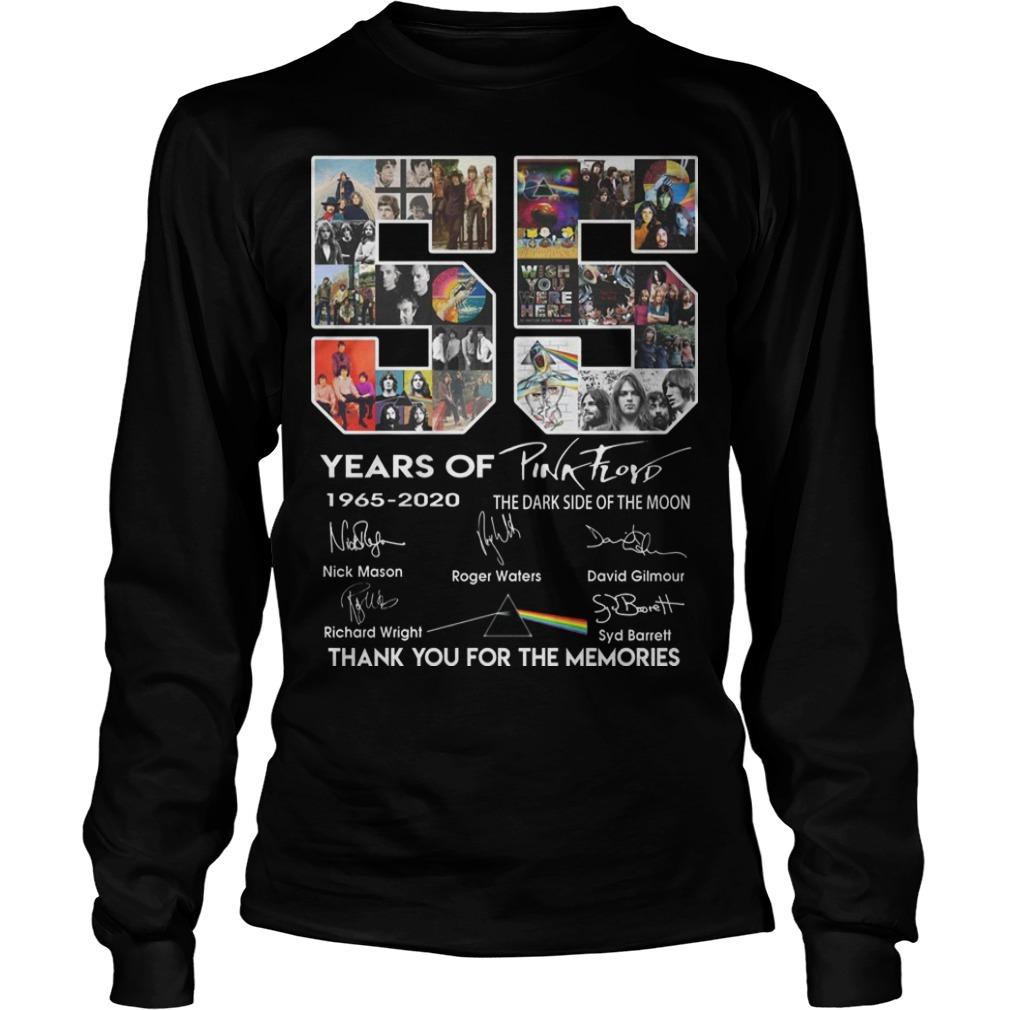 55 Years Of Pink Floyd Thank You For The Memories Long Sleeve Tee