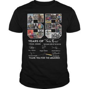 55 Years Of Pink Floyd Thank You For The Memories Shirt