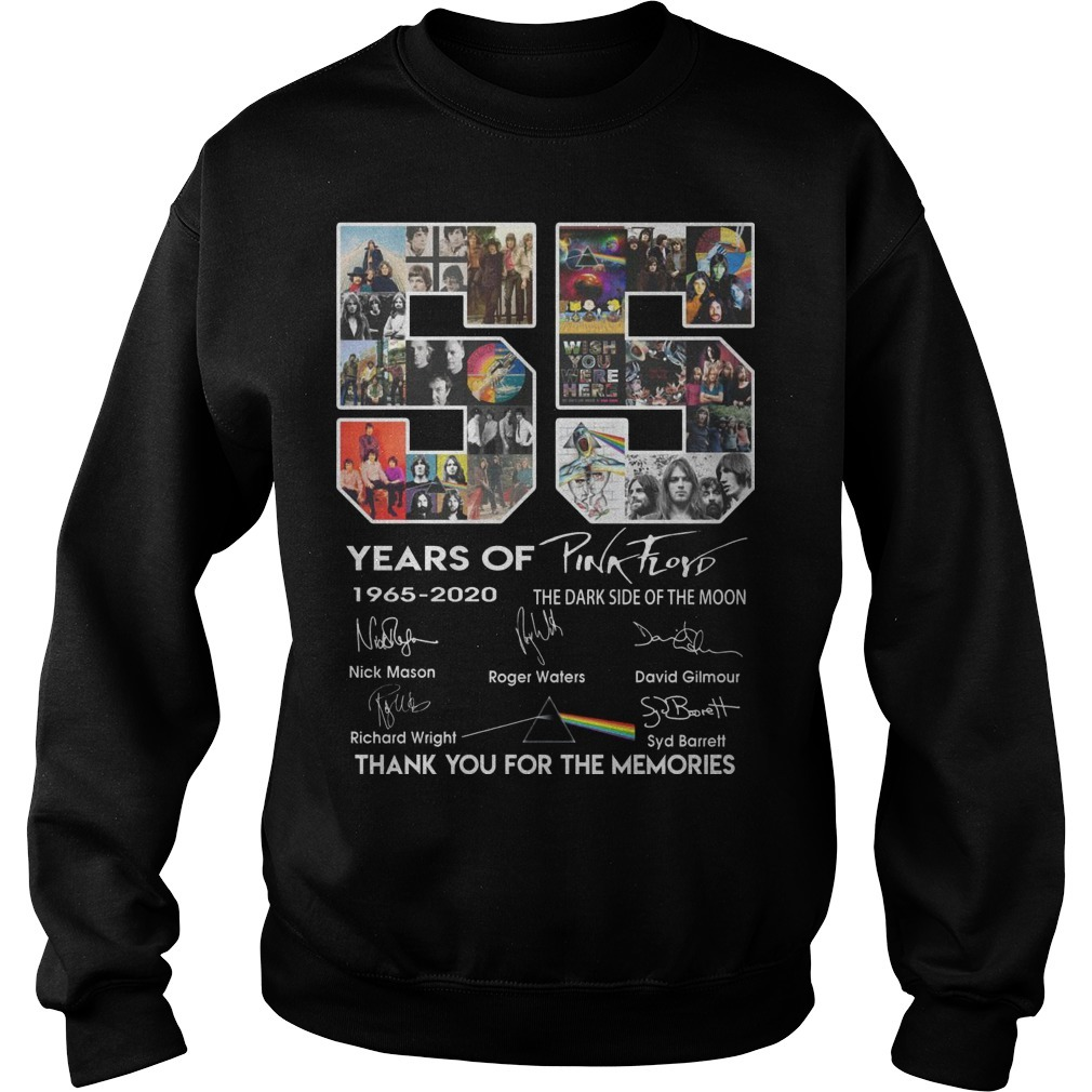 55 Years Of Pink Floyd Thank You For The Memories Sweater