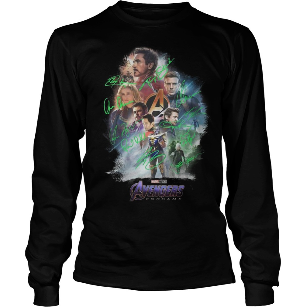 Avenger Endgame Poster Signature Long Sleeve Tee