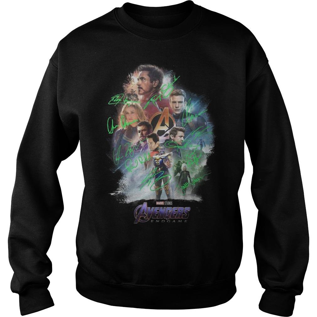 Avenger Endgame Poster Signature Sweater