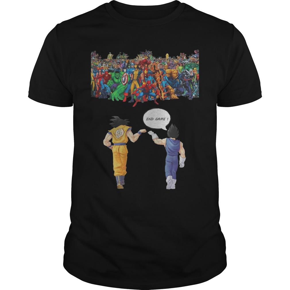 Avengers Son Goku And Vegeta End Game Shirt