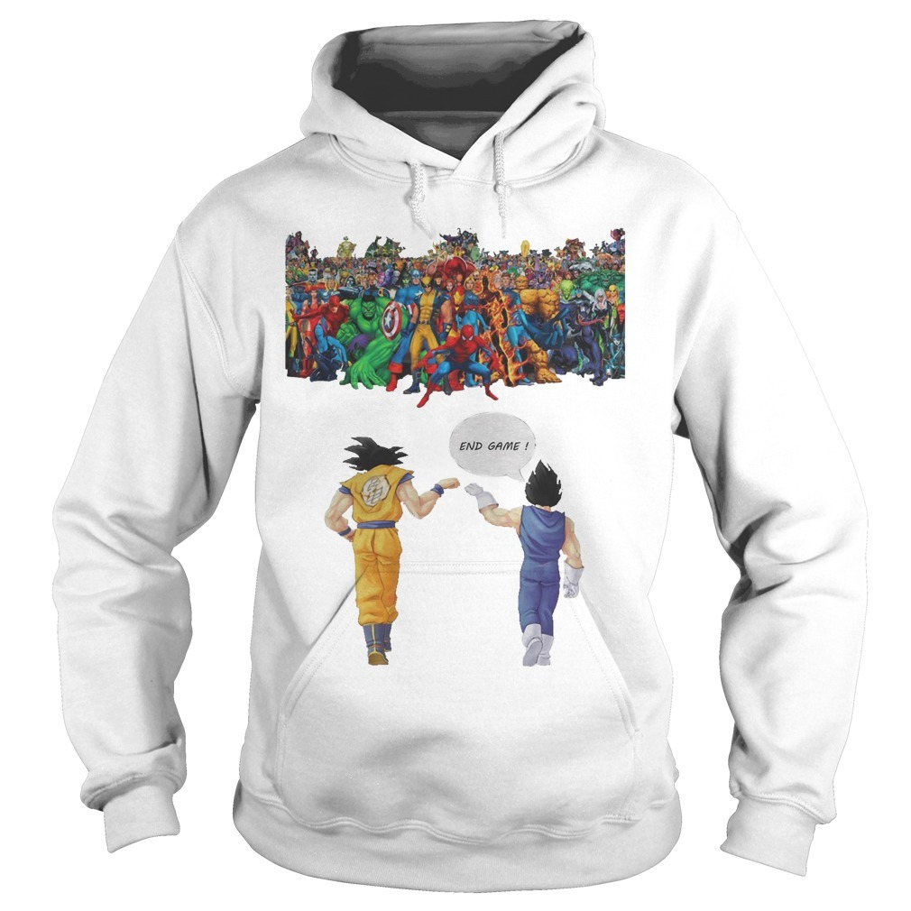 Avengers son goku and vegeta end game Hoodie
