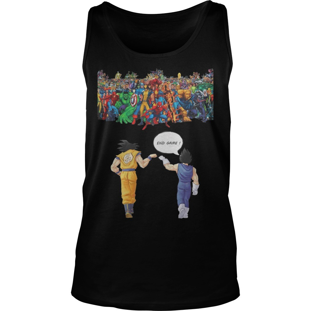 Avengers son goku and vegeta end game Tank Top