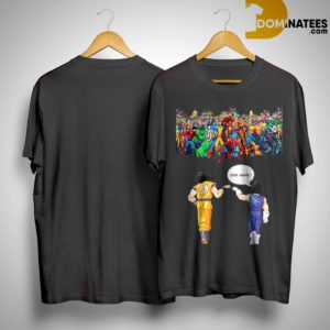 Avengers son goku and vegeta end game shirt