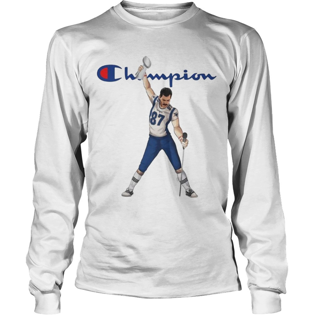 Champion New England Patriots Freddie Mercury 87 Championships Shirt Long Sleeve Tee