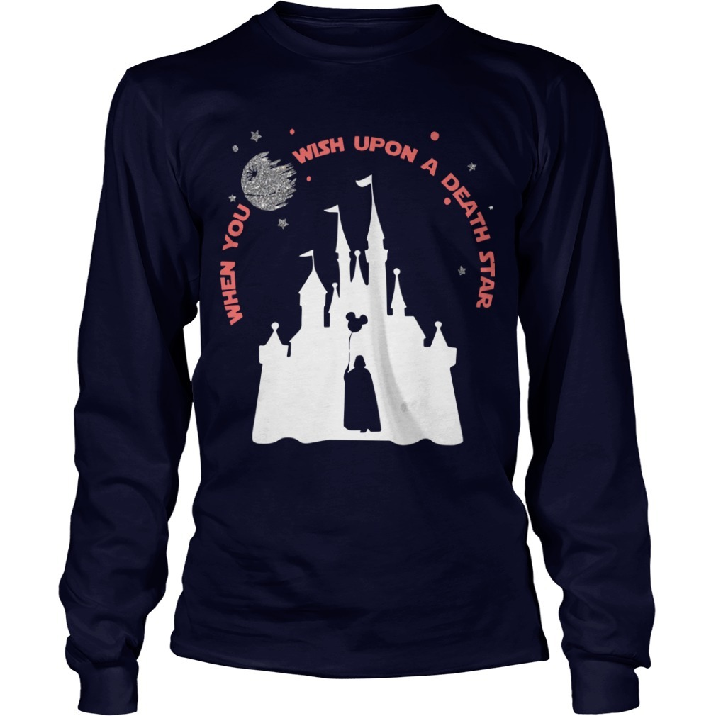 Darth Vader When You Wish Upon A Death Star Long Sleeve Tee