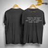 Destroy The Myth That Black Men Don't Love Support Black Women Shirt