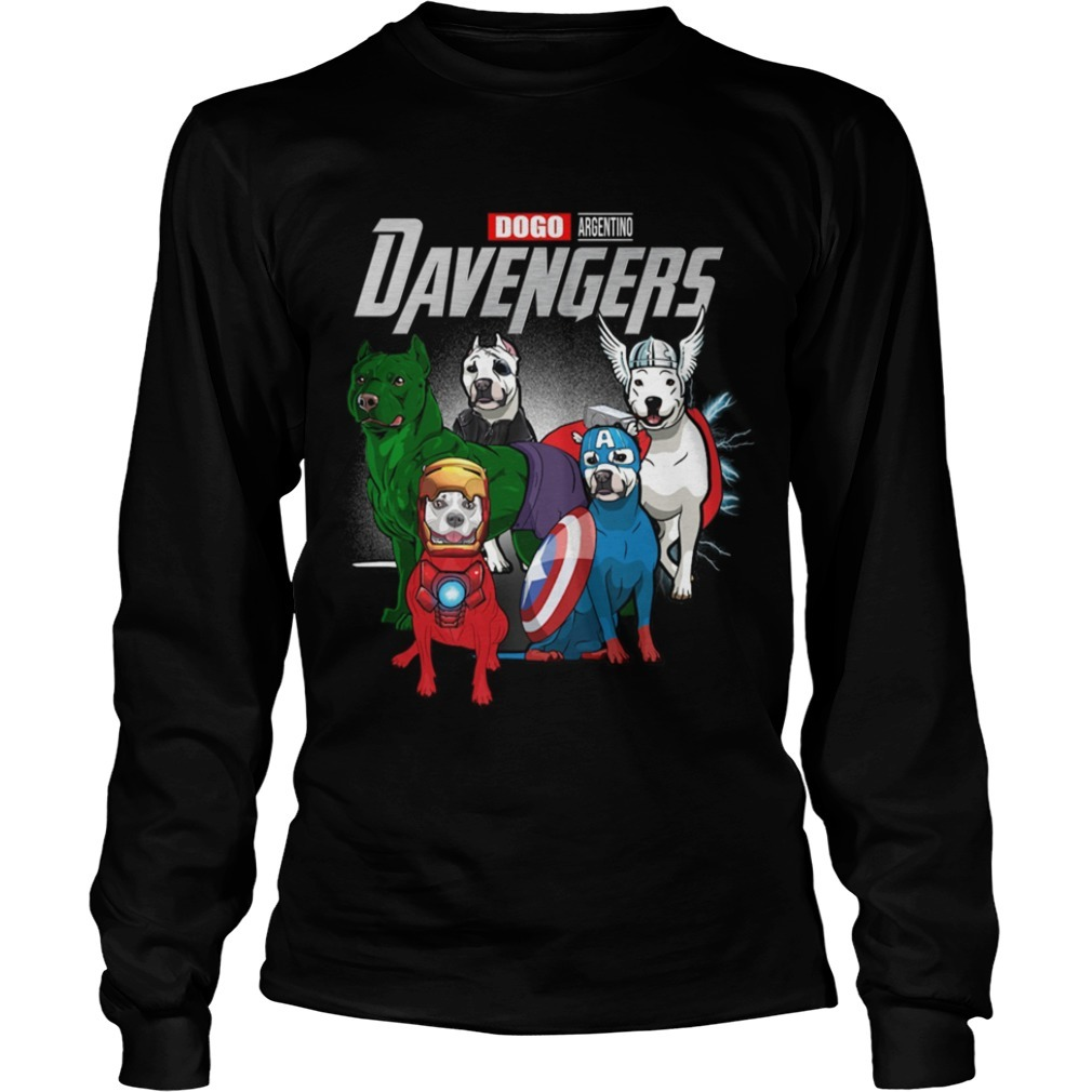 Dogo Argentino Davengers Long Sleeve Tee