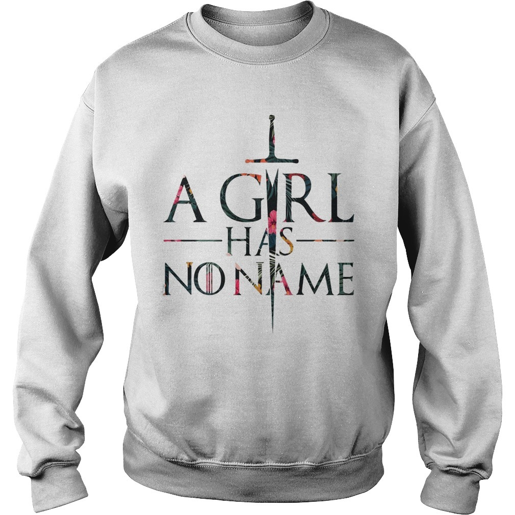 Floral Game Of Thrones A Girl Has No Name Long Sleeve Tee