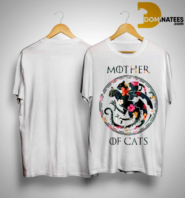Floral Game Of Thrones Mother Of Cats Shirt