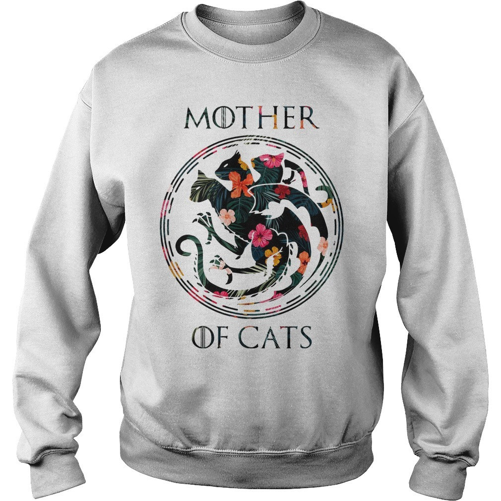 Floral Game Of Thrones Mother Of Cats Sweater