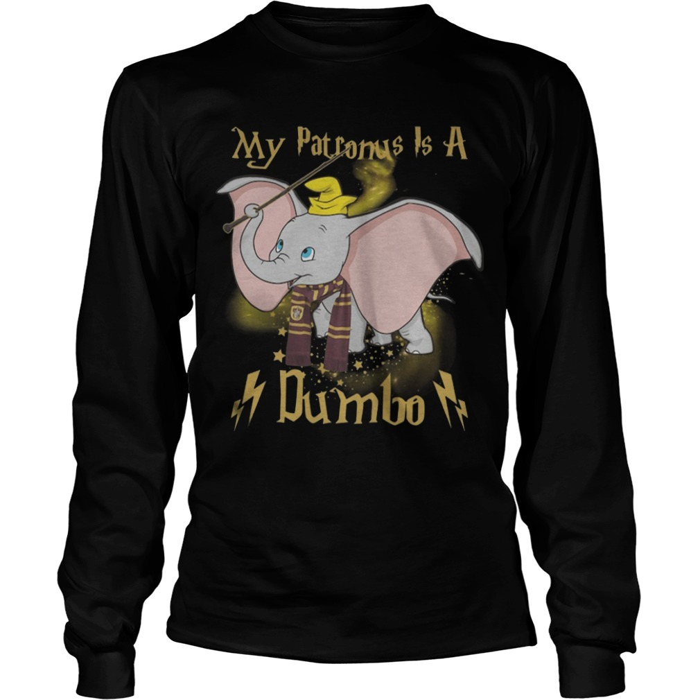 Harry Potter My Patronus Is A Dumbo Long Sleeve Tee