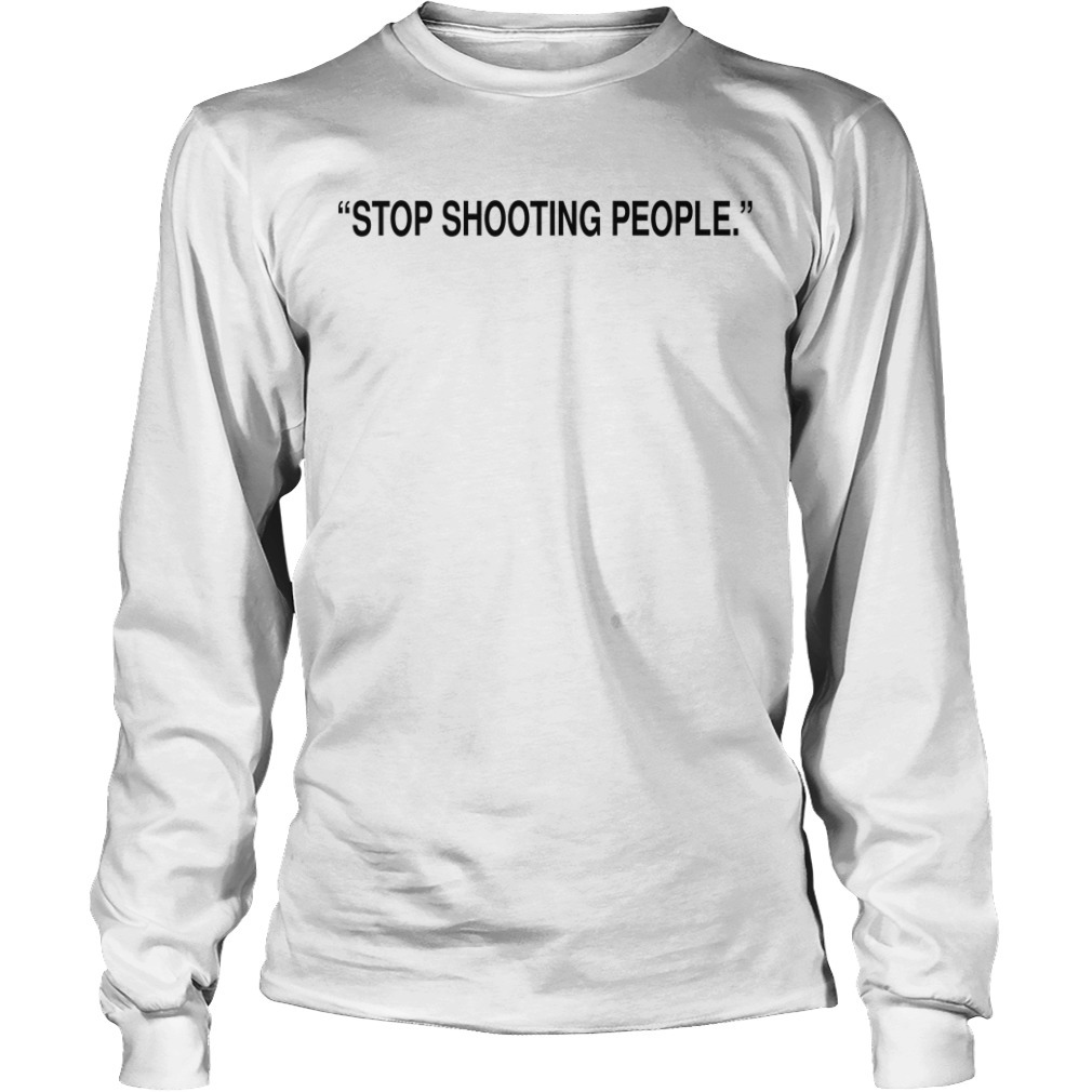 Jordan Clarkson Stop Shooting People Long Sleeve Tee