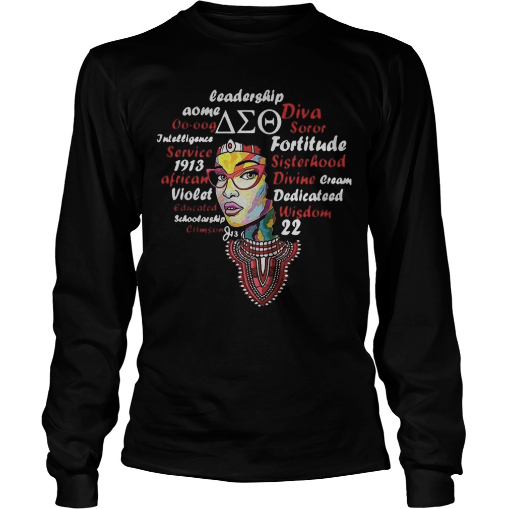 Leadership Aome Diva Soror Long Sleeve Tee