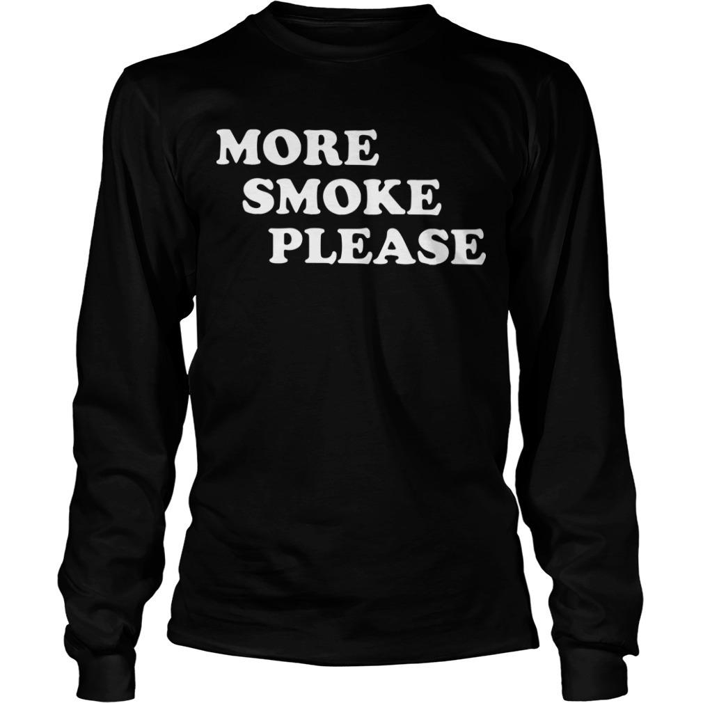 Lin-Manuel Miranda More Smoke Please Long Sleeve Tee