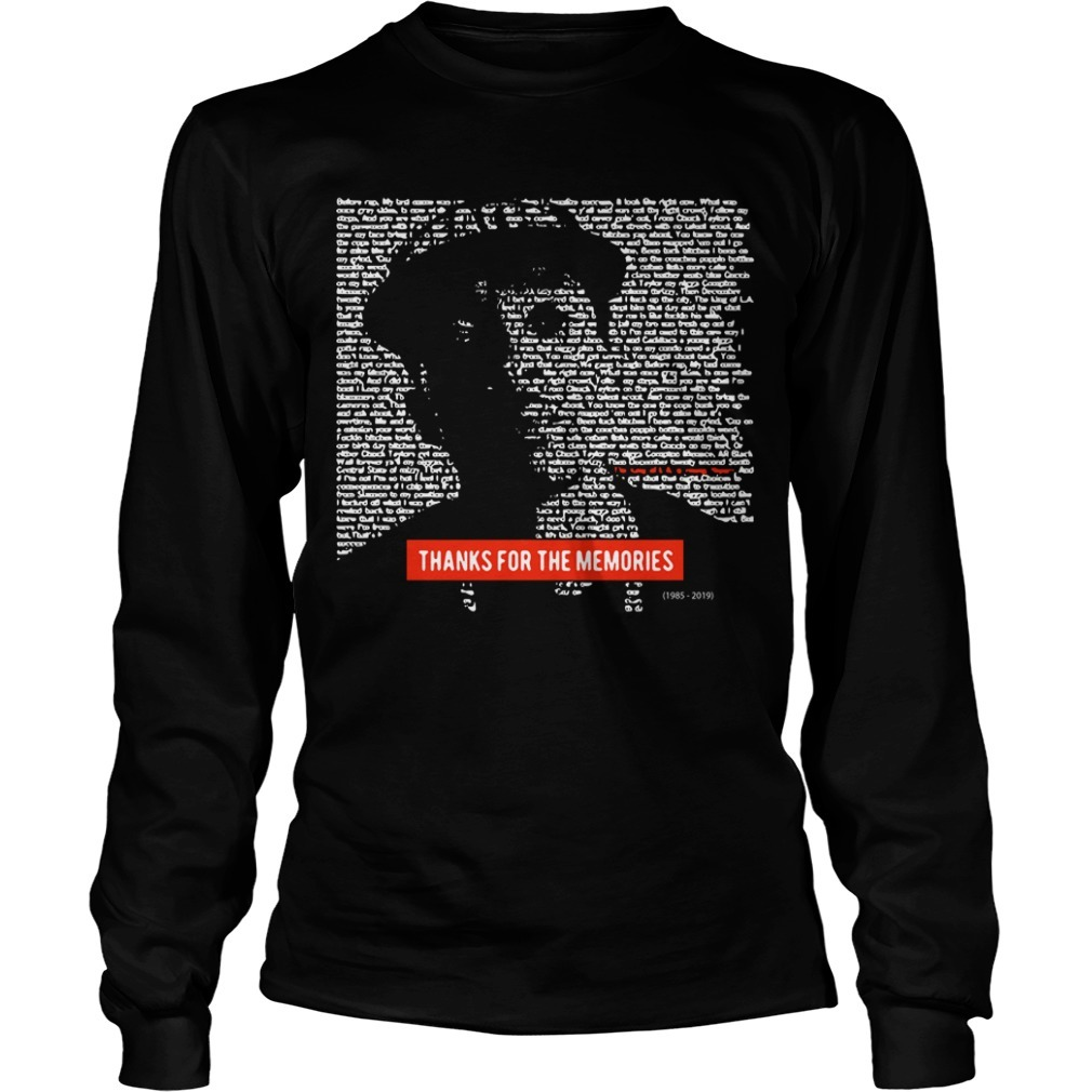 Nipsey Hussle Thanks For The Memories Long Sleeve Tee