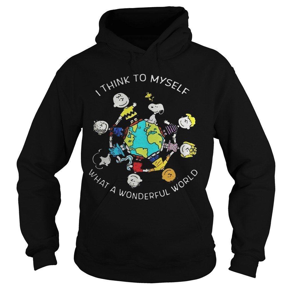 Peanuts I Think To Myself What A Wonderful World Hoodie