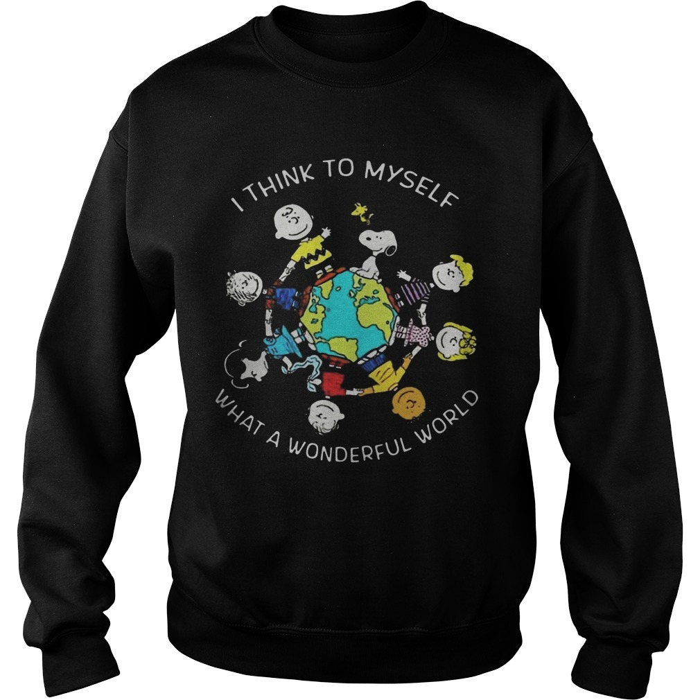 Peanuts I Think To Myself What A Wonderful World Sweater