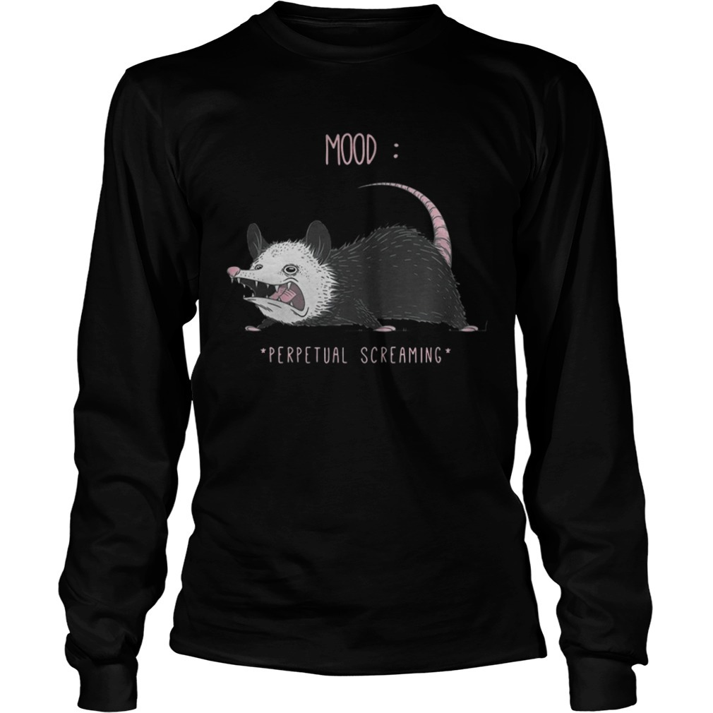 Rat Mood Perpetual Screaming Long Sleeve Tee