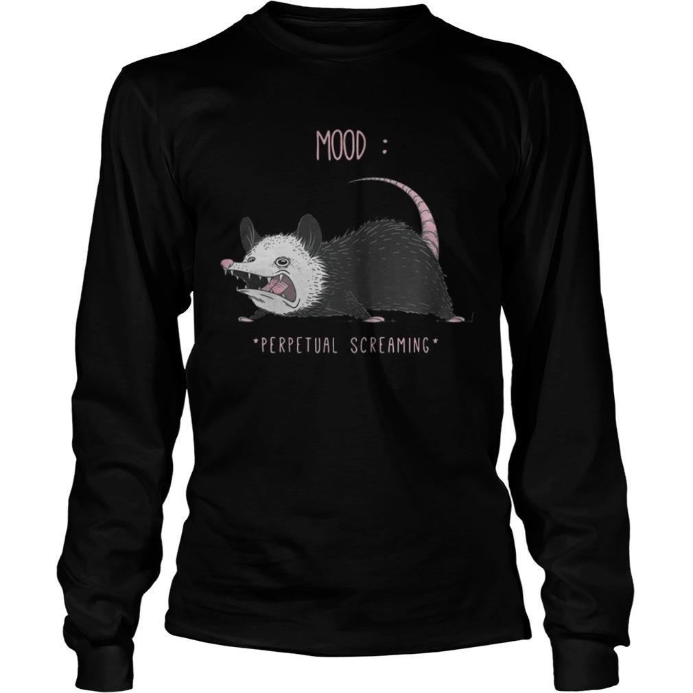 Rat Mood Perpetual Screaming Long Sleeve Tee